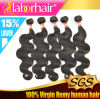 Выдвижение 100% человеческих волос Remy объемной волны девственницы перуанское Lbh 022