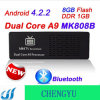 O mini PC Rockchip Rk3066 do Android 4.2.2 Mk808b Bluetooth Dual o núcleo Cortex-A9 1.6GHz 1GB/tevê Mk808 II de 8GB Google