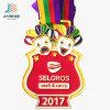 2017柔らかいエナメルが付いている亜鉛合金の鋳造のスポーツの金属メダルMedallasをカスタマイズしなさい