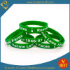 Kundenspezifische Debossed Farben-Infilled Silikon-Wristband u. Armband