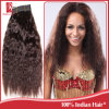 Cabelo de tecelagem nobre, trama brasileira do cabelo humano do Virgin super da onda