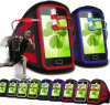 Brazo Belt Armband Pouch Cove con Earphone para Samsung Galaxy Ace/S5830