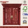 Portello di legno esterno europeo per la villa (XS1-007)