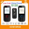 El teléfono barato 5130 de China con el teléfono móvil multilingue y de la antorcha, SIM dual se dobla teléfono celular espera