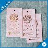 Tag da folha de ouro/cartão do selo para o acessório do vestuário