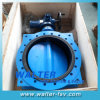 중국의 전기 Actuator Cast Iron Flanged Butterfly Valve