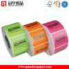 Accettare Custom Order e Custom Sticker Usage Industrial Label