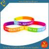 Custom Wholesale Rainbow Color Rubber Bracelets Segment Silicone Wristband (LN-064)