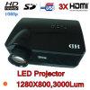 LEIDENE Projector Van verschillende media met 3 HDMI en de Keerder van TV