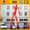 8m danseur rouge gonflable de ciel de deux pattes pour la publicité