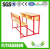 Doubles bureau d'école et chaise combinés en bois (SF-37D)