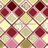 100%Polyester de Afgedrukte Stof van de diamant Pigment&Disperse voor de Reeks van het Beddegoed