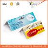 Kundenspezifische Packpapier-Vorlaufkarte, die für Schmucksachen verpackt