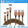 Línea de nylon cable del mejor de la venta cargador de los datos del micr3ofono/USB del iPhone