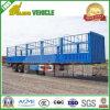 De 3 essieux de frontière de sécurité de pieu de cargaison en bloc de bétail remorque animale semi