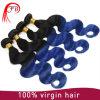 Onda azul do corpo do cabelo humano da cor de Ombre 1b
