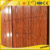 أحدث خشبي الحبوب لسحب الألمنيوم لمحاكاة باب خشبي مع تخصيص المشارب الألومنيوم