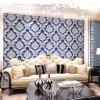 Papel pintado clásico hermoso del PVC del damasco para el papel pintado de la decoración de la pared