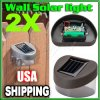 2x Outdoor Solar Power LED Path Wall Landscape Mountの庭Fence Light Lamp (HD0897)