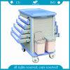 Carretilla del carro de la medicina de la cara del doble del ABS AG-Mt011A1
