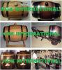 El regalo de encargo de los padrinos de boda del día de padre personalizó del roble americano negro de 2 aros del litro el barril de madera