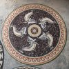 Плитка медальонов мозаики настила