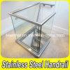 Trilhos internos Home do vidro Tempered de aço inoxidável da escada 304