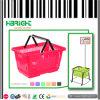 Panier à provisions en plastique de main de supermarché