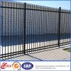 4つの柵の粉の上塗を施してある錬鉄の塀