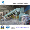 Horizontal auto Hydraulic Waste Paper Packer con Conveyor