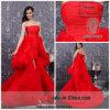 Драматически красное без бретелек платье Dz-396 торжества поезда молельни сборок