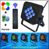 9PCS teledirigido 10 Watts RGBWA Wireless Batería-accionado 5in1 DMX LED Lights