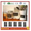 Pequeña etiqueta del tablero de tiza para la marca de la cocina y del jardín