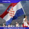 La livraison rapide aucun indicateur de pays fait sur commande de polyester de MOQ, indicateur de la Croatie