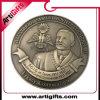 Pièce de monnaie antique en métal du modèle 3D de propriétaire