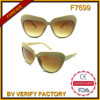 F7699 Fashional Designed Plastic Sunglasses für Lady