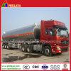 de 3axle 30-60cbm del agua de la leche del combustible de petrolero del carro acoplado de aluminio semi