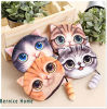 signora stampata animale Coin Purse del gatto 3D