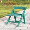 Wedding verde Resin Folding Chair con Pad