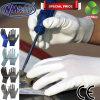 L'unité centrale blanche d'interpréteur de commandes interactif de polyester de Nmsafety a enduit des gants de travail de sûreté