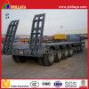 80 ton 4 Semi Aanhangwagen van het Bed van Assen de Op zwaar werk berekende Lage