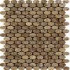 Mosaico material de mármol oval de la buena calidad 2015 (L1374)