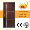 Porta Home do PVC da madeira compensada do projeto interior com tira de alumínio, pele da porta do MDF (SC-P187)