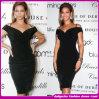 2015 neues Arriver Ladys Fashion Sexy Black Celebrity Bandage Dress (b-100233)
