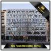 Dekorativer perforierter Aluminiumwand-Fassadenelement-außenentwurf für Fassade