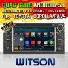 Carro DVD do Android 5.1 de Witson para Toyota Avanza (2001-2008) com retrato da pia batismal DVR do Internet da ROM WiFi 3G de Rockchip 3188 1080P 16g do núcleo do quadrilátero no retrato (W2-F9158T)