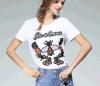 T-shirt de chemise de Madame Bees Embroidered Cotton Short de mode d'Occident