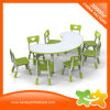 새로운 디자인 합판 물자 유치원 테이블 및 의자는 교육 아이 가구를 놓았다