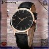 O par novo do couro genuíno do OEM dos relógios de forma do projeto Yxl-084 presta atenção ao relógio dos homens luxuosos resistentes da água do aço inoxidável
