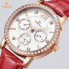 Orologio 71180 della signora Leather Quartz di modo dell'acciaio inossidabile di sport di promozione